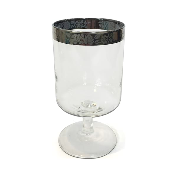 Silver Rim Water Glasses