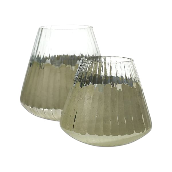 Shine Silver Glass Votives