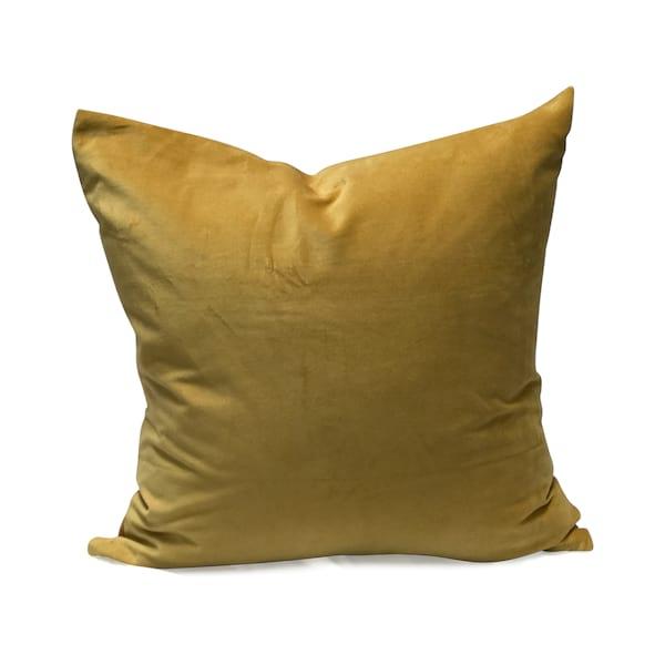 Mustard Gold Velvet