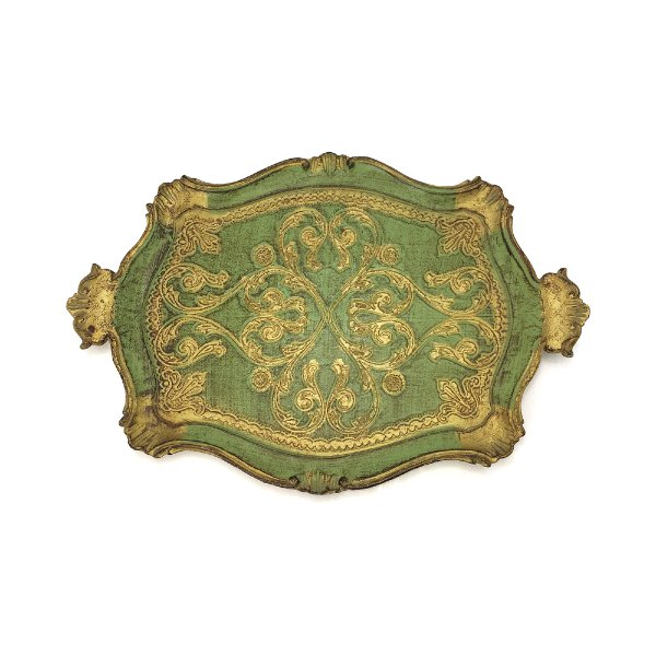 Green & Gold Florentine Tray #2