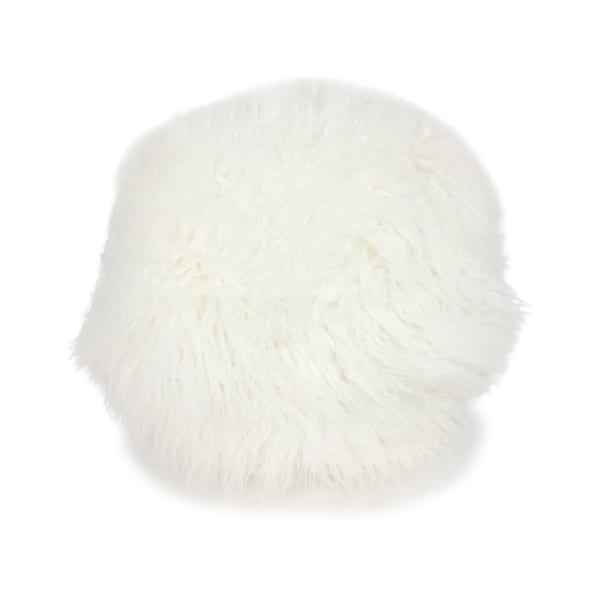 White Faux Fur Round