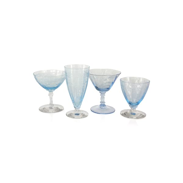 Light Blue Champagne Coupes