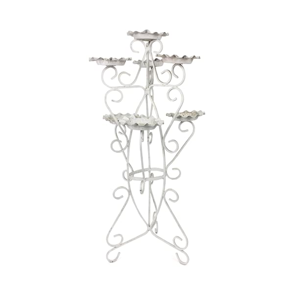 White Iron Candleabra