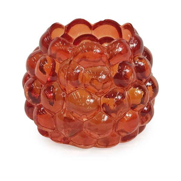 Orange Bubble Glass Votive