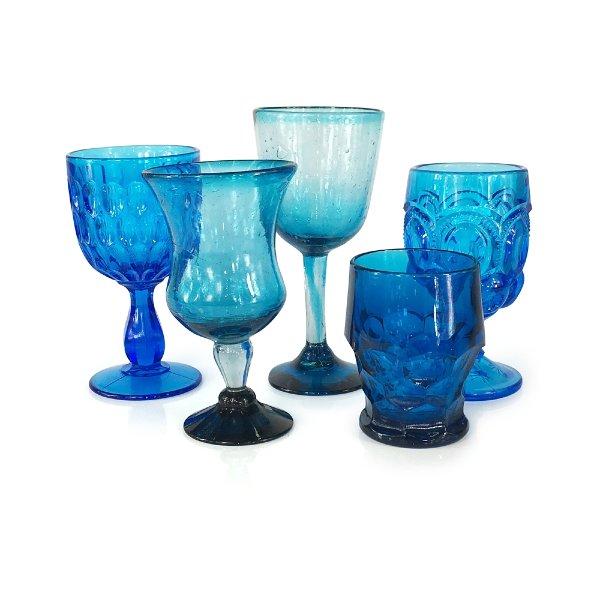 Azure Blue Goblets