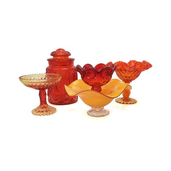 Orange Vases & Vessels
