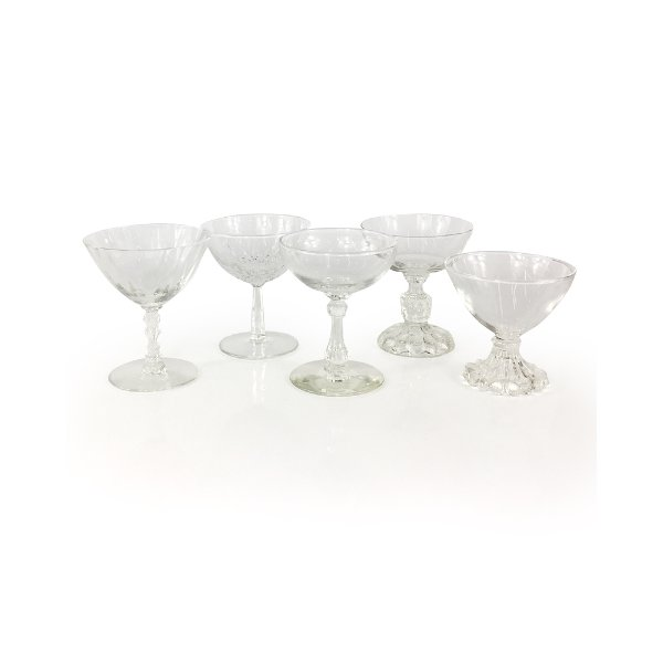 Clear Glass Champagne Coupes