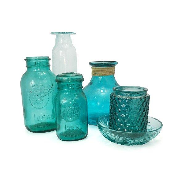 Aqua Vases & Vessels