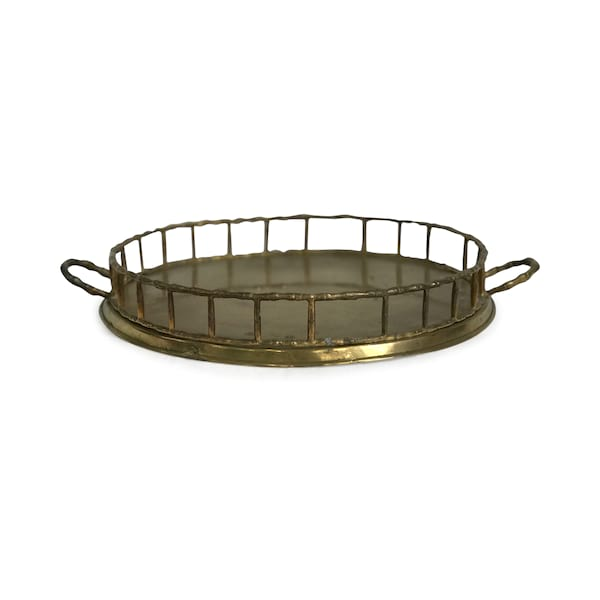 Brass Bamboo Tray #2