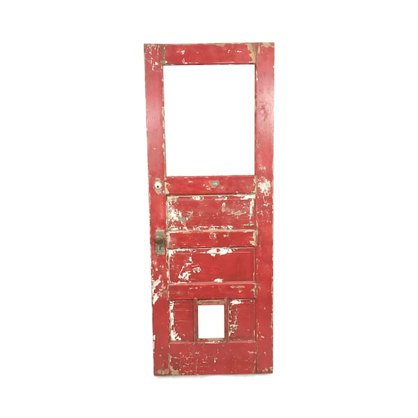 Vintage Chippy Red/White Door