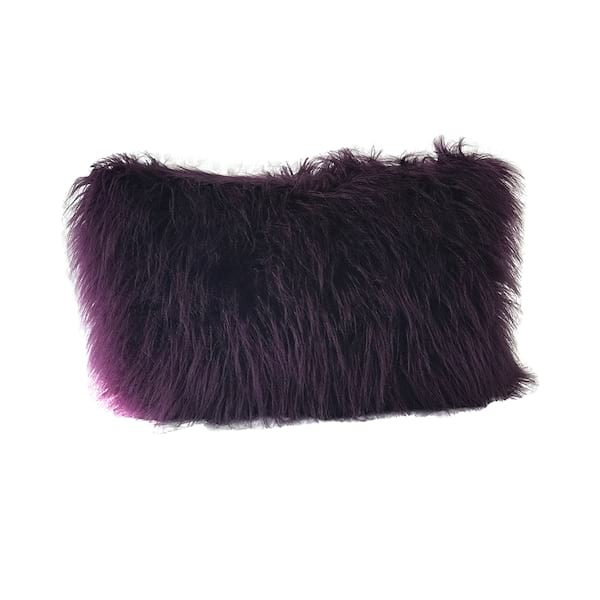 Purple Faux Fur Lumbar