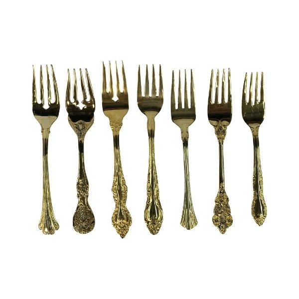 Vintage Gold Salad Forks