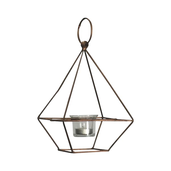 Copper Geo Hanging Votive