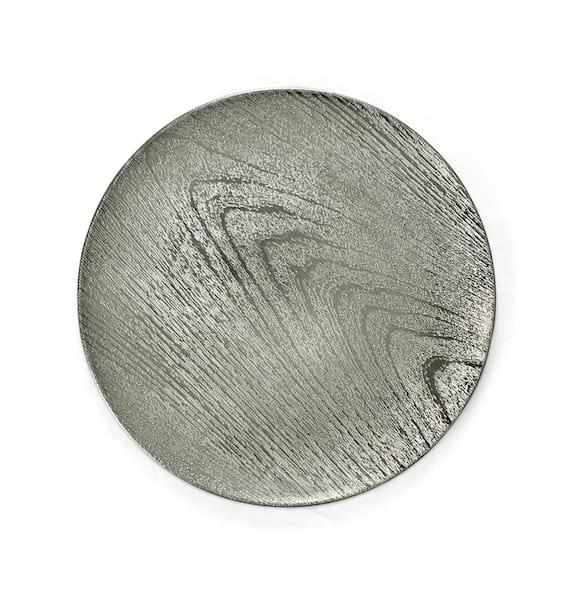 Silver Metallic Wood Grain