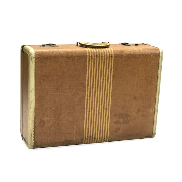 Striped Vintage Luggage