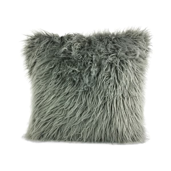 Grey Faux Fur