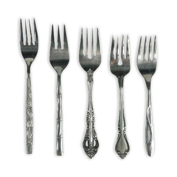 Vintage Mid Century Salad Forks