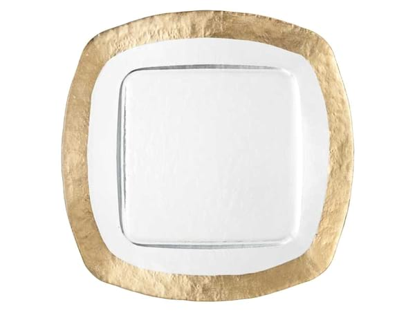 Ice Square Gold Charger
