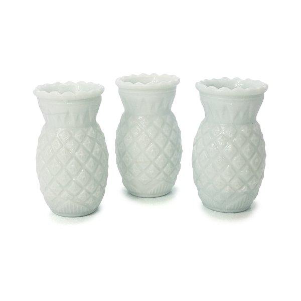 Milk Glass Pineapple Vases