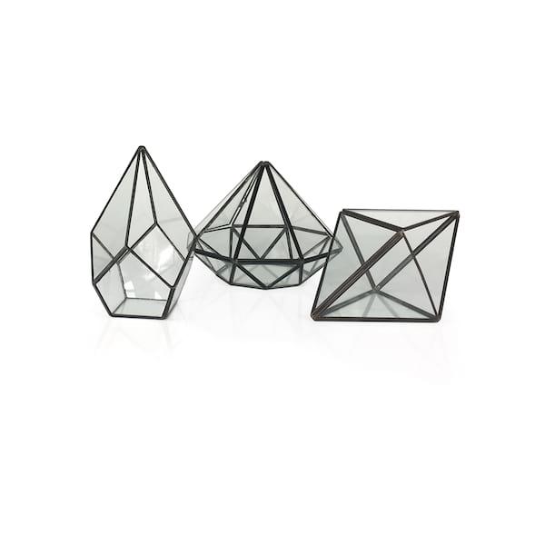 Metal/Glass Geo Boxes
