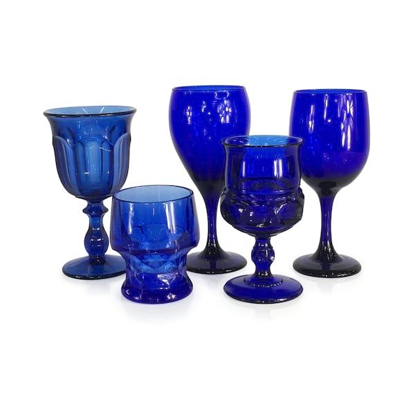 Cobalt Blue Goblets