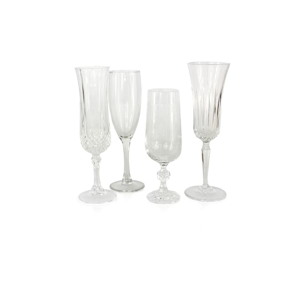 Clear Glass Champagne Flutes