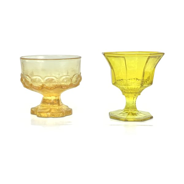 Yellow Champagne Coupes
