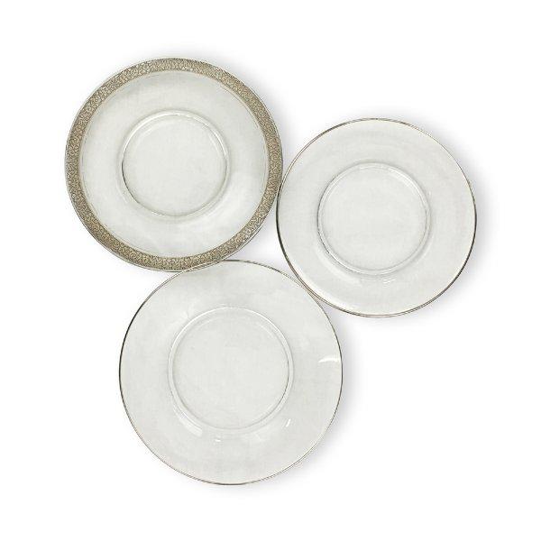 Silver Rim Glass