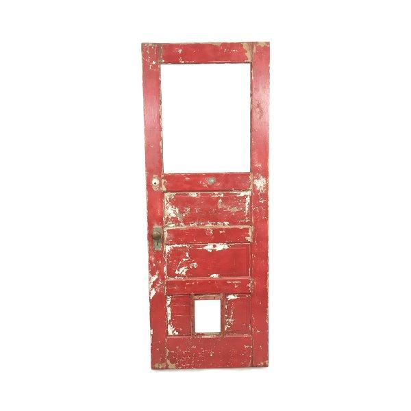 Vintage Chippy Red/White Door
