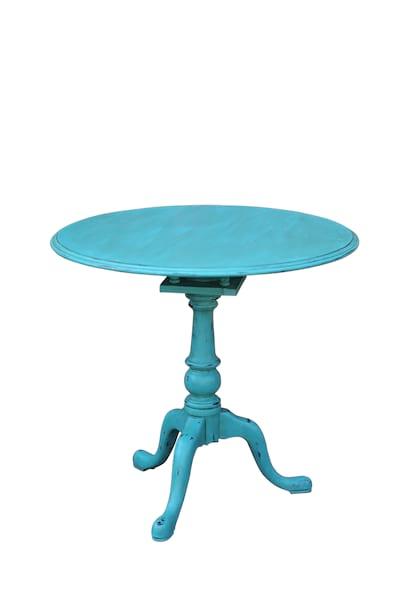 Aqua Side Table