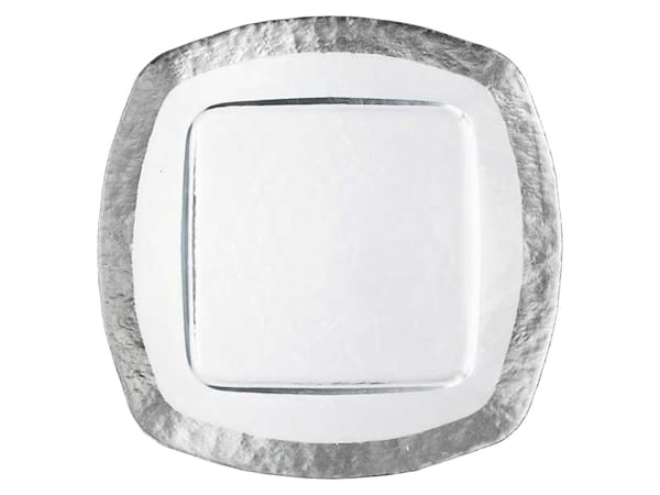 Ice Square Silver Charger