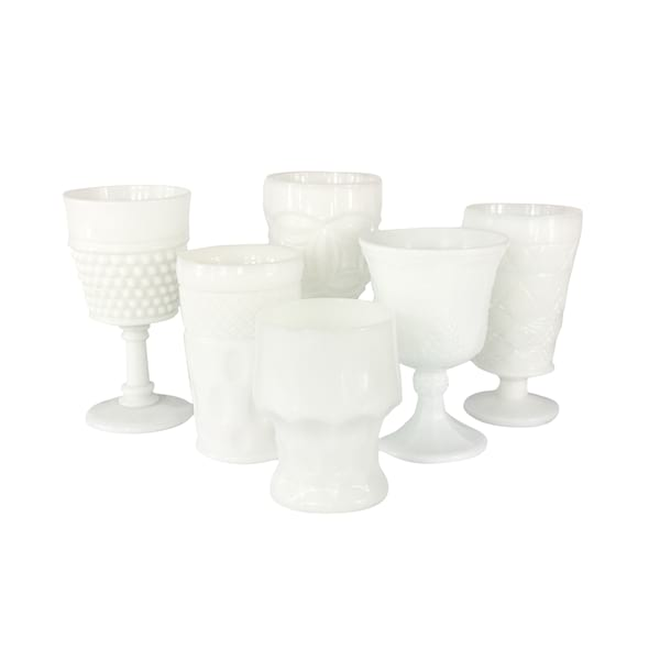 White Milk Glass Goblets