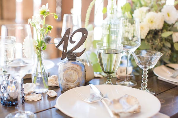 Iron & Glass Bottle Table Numbers