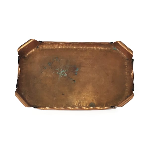 Copper Rolled Edge Tray