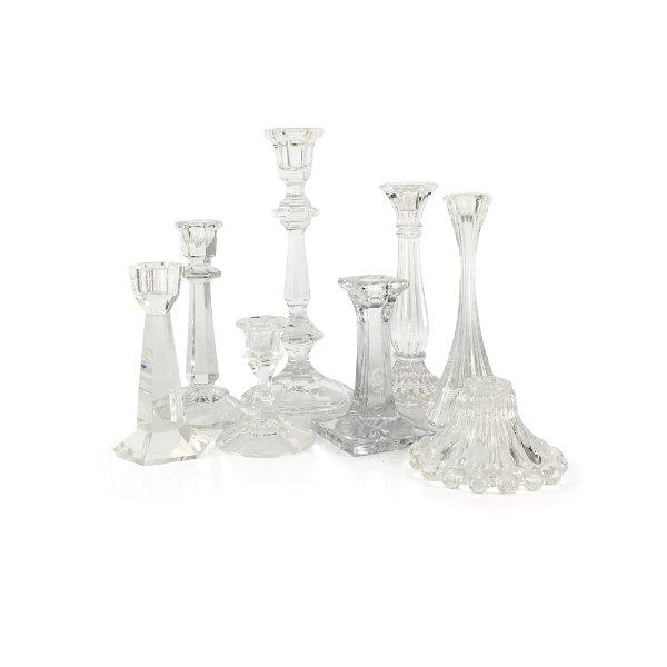 Clear Glass/Crystal Candlesticks