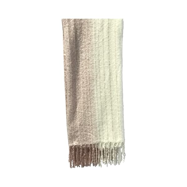 Blush/Cream Fringe Throw