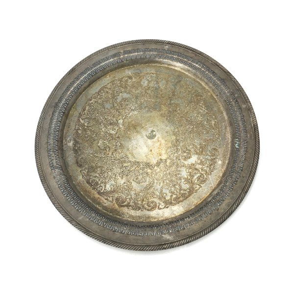 Round Silver Tray #1