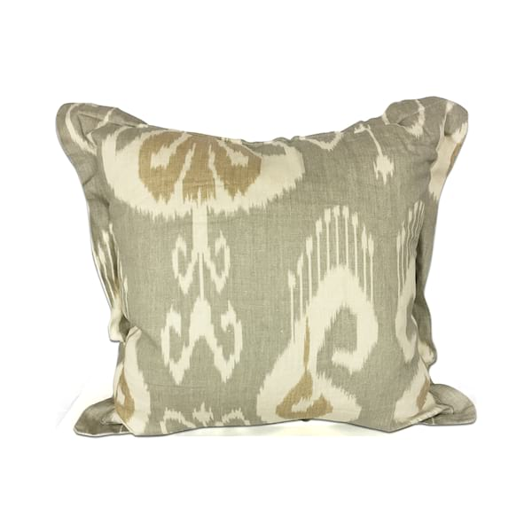 Grey//Gold Ikat