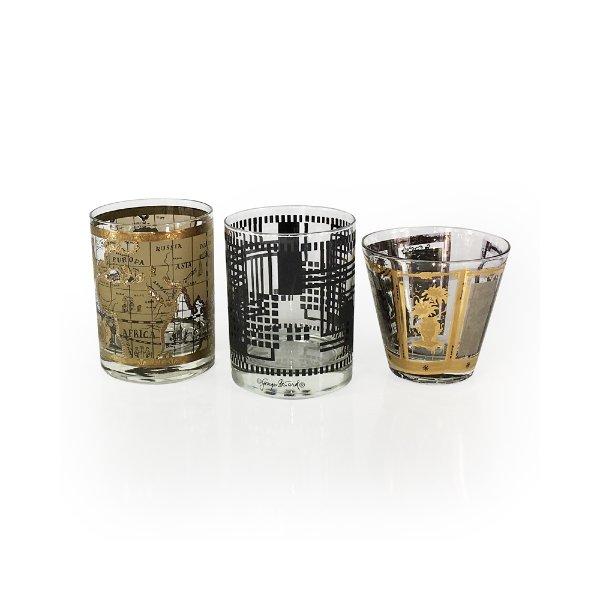 Vintage Black & Gold Rock's Glassware