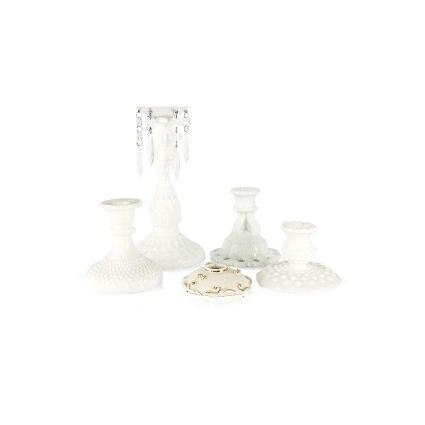 Milk Glass Candlsticks
