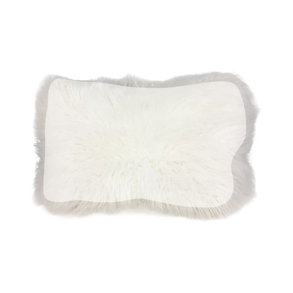 White Faux Fur Lumbar