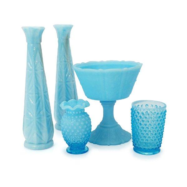 Light Blue Milk Glass