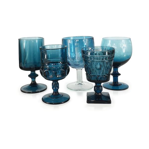 Blue Teal Goblets