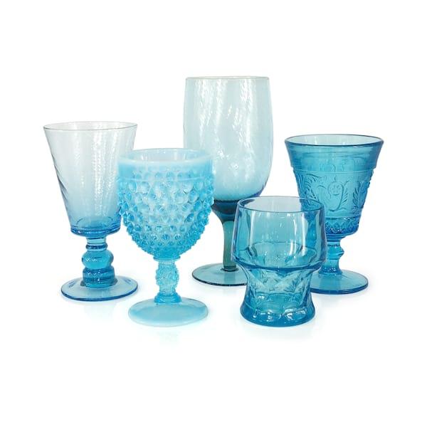 Aqua Blue Goblets