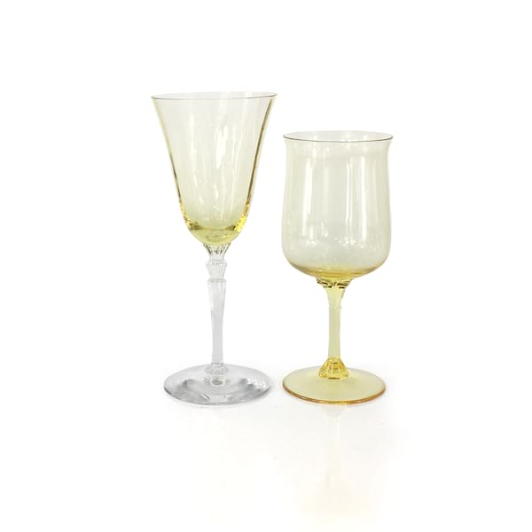 Yellow Wine Glasses