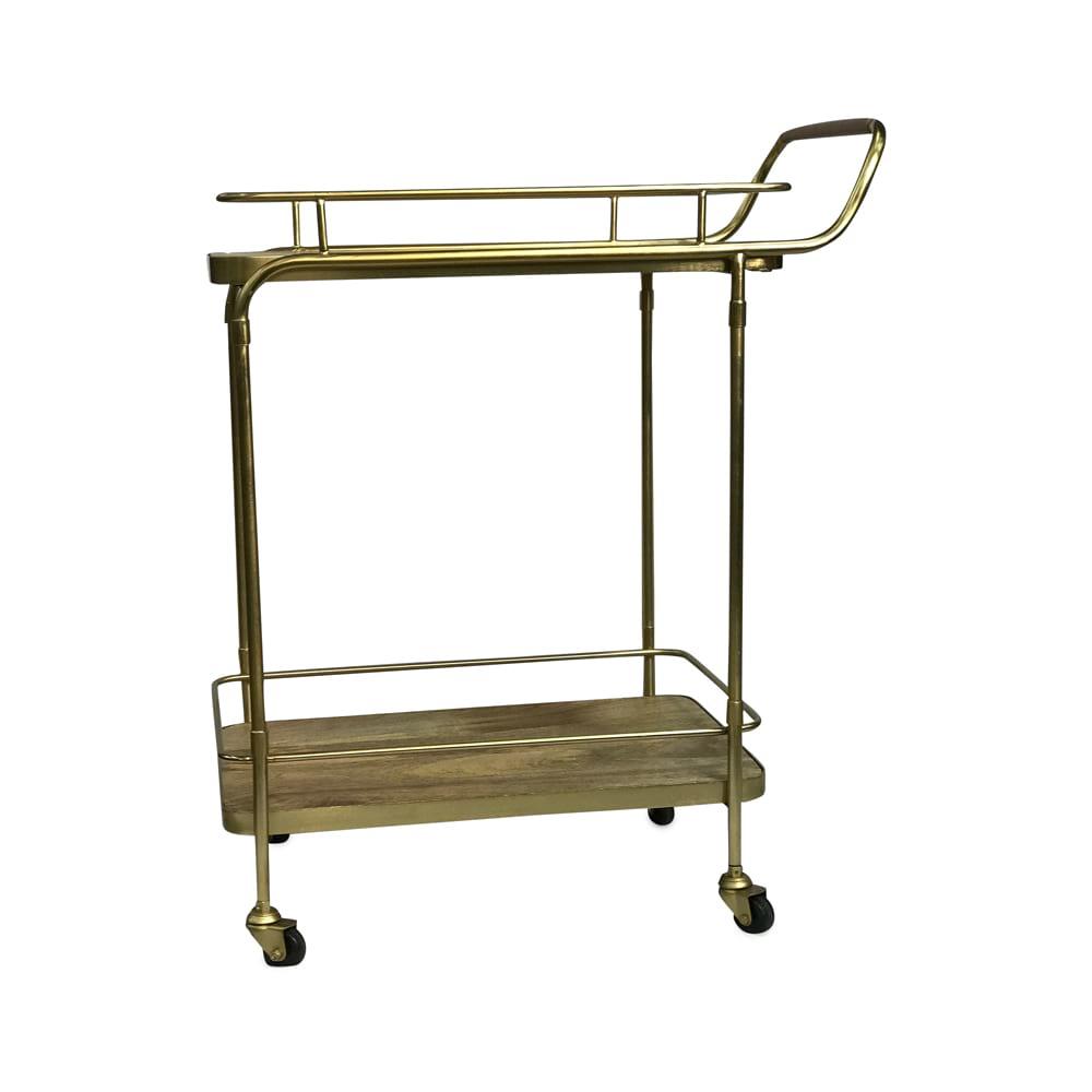 Brass & Wood Bar Cart