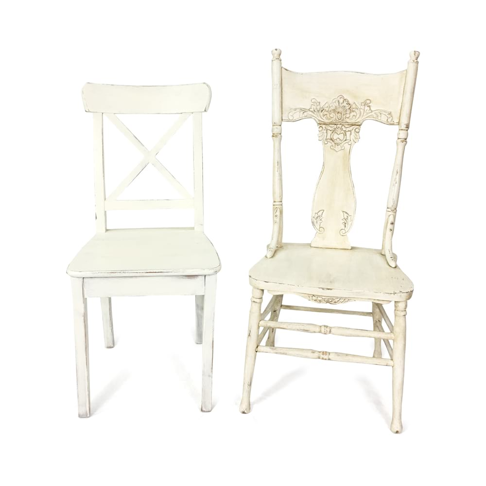 Vintage White Wood Chairs