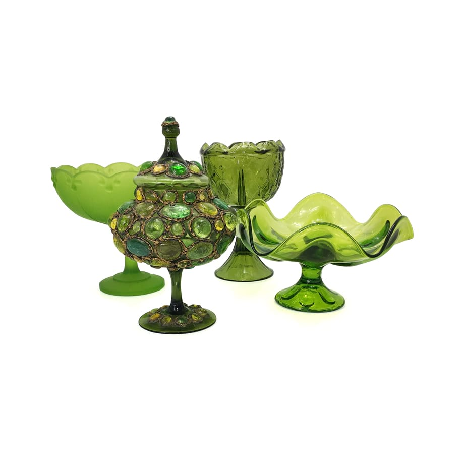 Green Glass Vases & Vessels