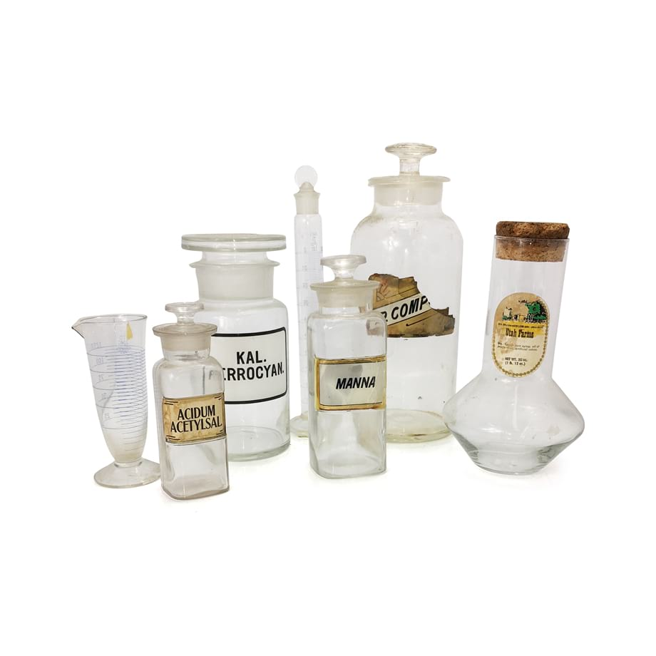 Vintage Lab Bottles