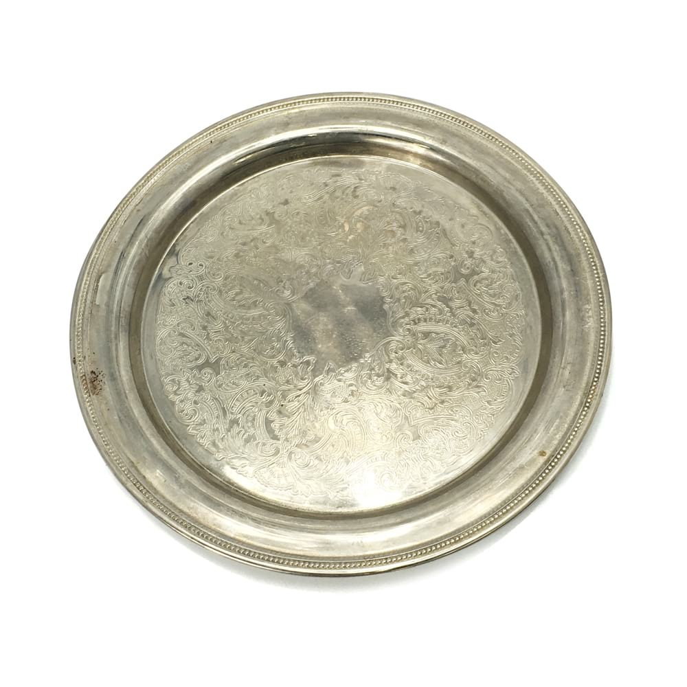 Round Silver Tray #2